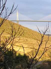 The famous viaduct of Millau